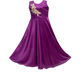 Princess purple Party wear Dress for Girls
