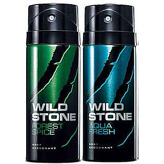 Wild Stone Aqua Fresh Body Deod0rant Body Spray For Men- Set of 2