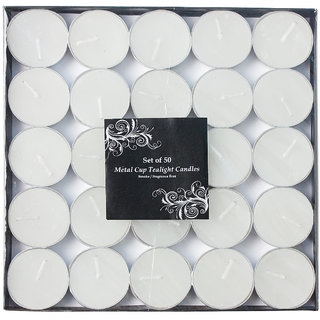 Vendoz Wax Tealight Candles (Set of 50 Unscented)