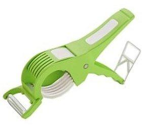 SRK Multi-Veg Plastic Cutter With Peeler GreenSet o 1