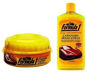 Formula 1 Carnauba Wash  Wax Shampoo Liquid  (473 ml) + Formula 1 Carnauba Car Wax Paste (230gm)