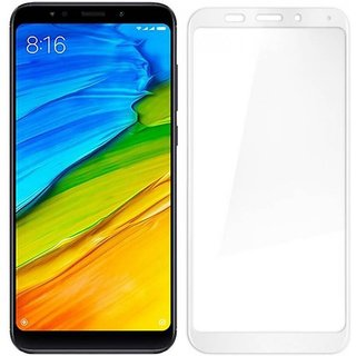 Redmi Note 5 White 5D Tempered Glass Standard Quality
