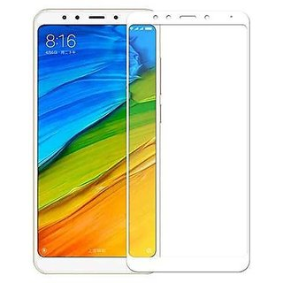 Redmi 5 White 5D Tempered Glass Standard Quality