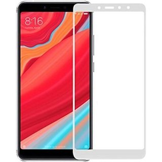 Redmi Y2  White 5D Tempered Glass Standard Quality