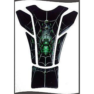 Customize Spider Green Universal Tank Pad For ALL Bikes