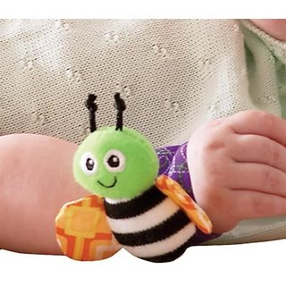 Kuhu Creations Cute  Stylish Soft Baby Rattles.(2 Units, Style A Multicolor 2 Wrist Rattle)
