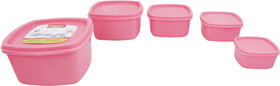 Ankur Multipurpose Storage Airtight Container, Set of 5Pcs (250ml, 500ml, 750ml, 1250ml, 2000ml)