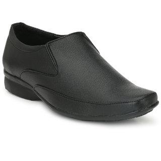 morro men black slip-on formal shoes