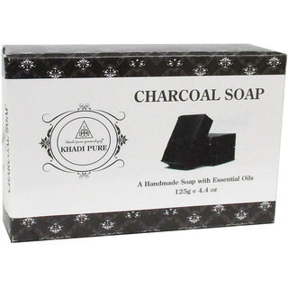 Khadi Pure Herbal Charcoal Soap - 125g