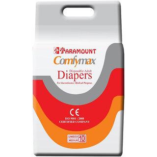 PARAMOUNT COMFYMAX Premium Adult Diapers   M  10 Pieces