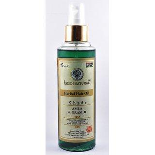 Khadi Natural Amla and Bramhi herbal hair oil 210 ml - SLS/Paraben Free