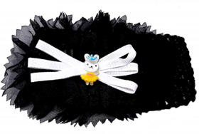 Proplady Floral Cutwork Teddy Baby Girl  Head Band (Pack of 1, Black)