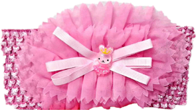 Proplady Floral Cutwork Teddy Baby Girl  Head Band (Pack of 1, Baby Pink)