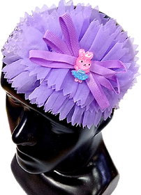 Proplady Floral Cutwork Teddy Baby Girl  Head Band (Pack of 1, Purple)