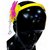 Proplady Fluorescent Partywear Butterfly Hairband With Shimmery Finish & Crystal Danglers Hair Band (Pack of 1,Yellow)
