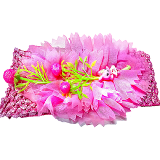 Proplady Floral Design Cutwork Baby Girl  Head Band (Pack of 1, Baby Pink)