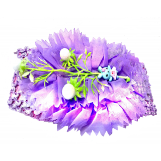 Proplady Floral Design Cutwork Baby Girl  Head Band (Pack of 1, Purple)