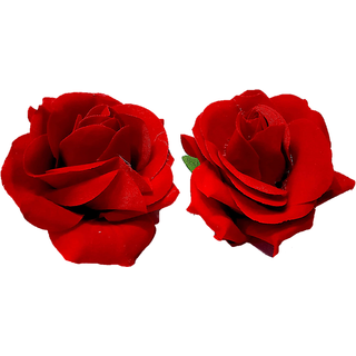 Proplady Red Rose Multipurpose Hair Clip/Brooch Jewellery Accessory Set, Hair Clip, Hair Pin, Bun Clip