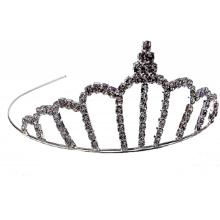 Proplady Stone Studded Metal Princess Crown/Tiaras/Partywear Hair Accessory for Girls