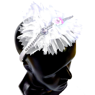 Proplady Princess Floral Cutwork Stone Studded Hairband, Head Band  (Pack of 1,White)