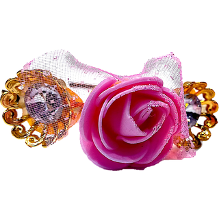 Proplady Princess Tiara/Crown Style Rose Stone Studded Metal HairBand, HeadBand for Girls & Women(Pack of 1,Pink)