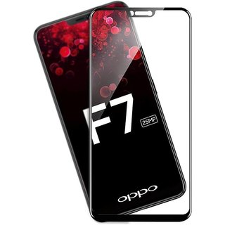 Oppo F7 Black 5D Glass Standard Quality