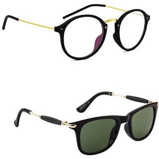 e3cba018f8 Buy Anti Glare Lens Black Lightweight Round Sunglasses Combo Online - Get  50% Off