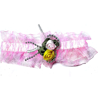 Proplady Princess Floral  Baby Headband, Hair Accessories for Newborns and Baby Girls (Baby Pink)