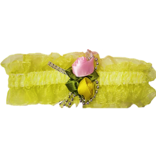 Proplady Princess Floral  Baby Headband, Hair Accessories for Newborns and Baby Girls (Yellow)
