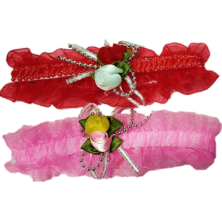 Proplady Princess Floral (Set of 2) Baby Headbands, Hair Accessories for Newborns and Baby Girls