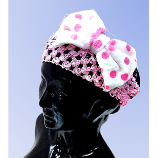 Proplady Pogo Baby Bow Headband, Hair Accessories for Newborns and Baby Girls (Cute Pink)