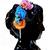 Proplady Princess Tiara/Crown MultiRose Metal Hair Band with Stones, HeadBand for Girls & Women (Pack of 1)