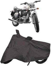 De AutoCare Premium Quality Grey Matty Two Wheeler Bike Body Cover for Roy@l En-Field Bullet 350