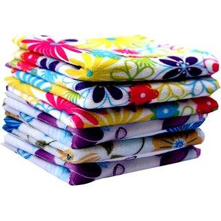 Face Towels, Multi Design stylish Handkerchief size- 24 CM X 24 CM Multi Color ( Set of 6)