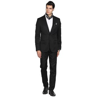 premium Suit Length Fabric by Gwalior Suitings(black)