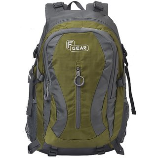 F Gear Plaza 40 Liter Hiking Bag (Olive Green, Grey)