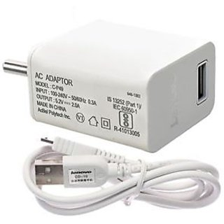 Lenovo 2.1A Wall Charger with Micro USB Cable for Lenovo Mobiles