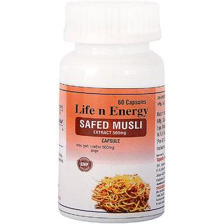 Life N Energy Ayurvedic Safed Museli Extract 60 Capsule 500 mg