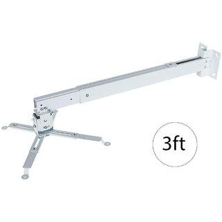 MDI Projector Wall Ceiling Mount Projector Stand-Alloy-Aluminum Adjustable Size 1.5ft to 3ft