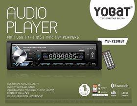 Yobat Car Stereo with Bluetooth USB FM AUX TF ID3 MP3 SD Card Support (Single Din) YB-7200BT