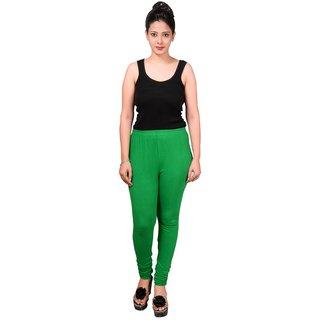 Maa-Aadya Women Green Cotton-lycra legging