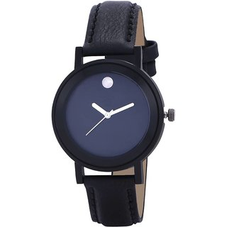 Buy Code Yellow Womens Black Round Dial Leather Strap Analog Watch With 6 Months Warranty Online
