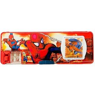 EREIN Multipurpose Pencil Box with Calculator  Dual Sharpner (Spiderman)