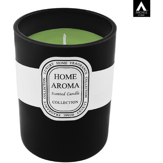 Archies Aromatic Fragrance Candle For Home Decor Room Aroma Fragrance Black Color Quantity 300 Ml (10.5X8.5 Cms) 1 Pc Set.