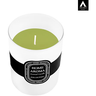 Archies Aromatic Fragrance Candle For Home Decor Room Aroma Fragrance White Color Quantity 300 Ml (10.5X8.5 Cms) 1 Pc Set.