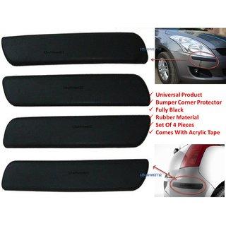 Car Black Bumper Corner Protectors Guard Molding - Tata Hexa