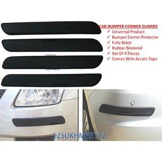 Car Black Bumper Corner Protectors Guard Molding - Maruti Suzuki Alto