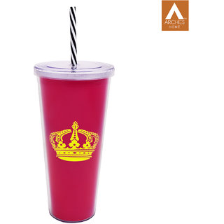 Archies Double Walled Plastic Sipper In Pink Color 500 Ml Capacity 1 Pc.