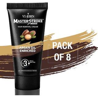 Master Stroke Men Hair Removal Cream Argan Oil 60GM Pack of 8