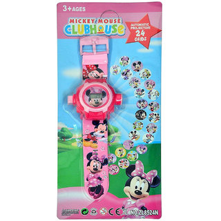Mettle Mickey Mouse watch Unique 24 Images Projector Digital Toy Watch for Kids - Enjoy with 24 Image Projector
